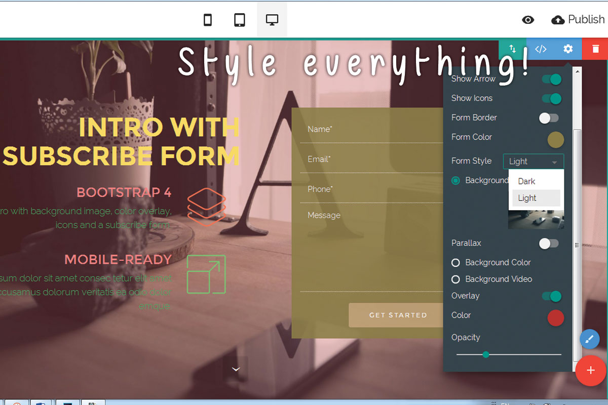 Easy Responsive Web Page Builder Software