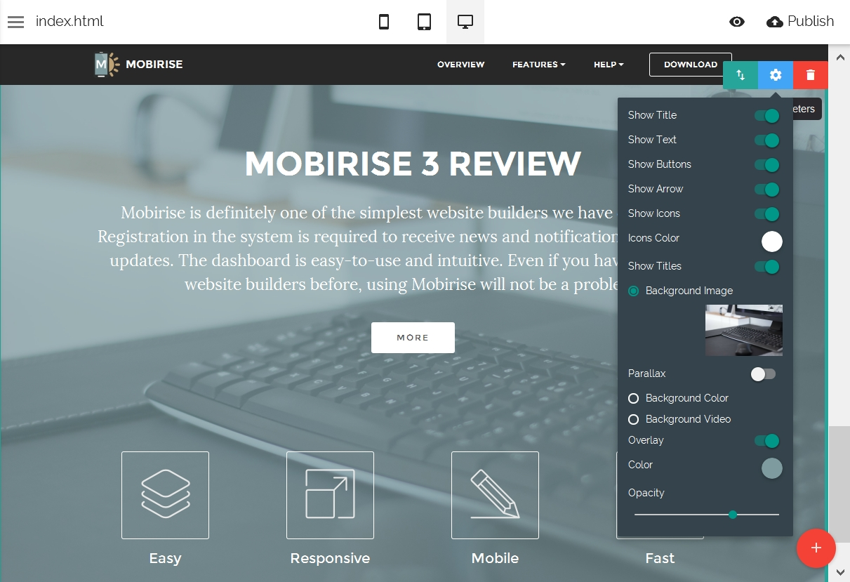Mobile Site Themes