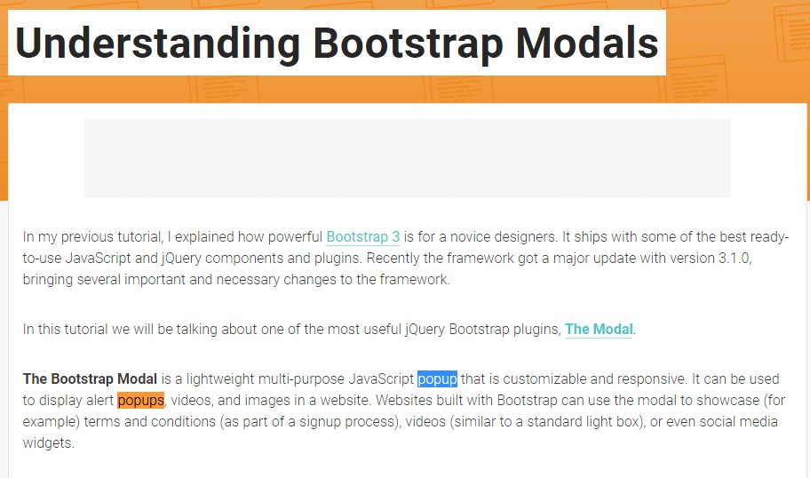 Another  beneficial  information  regarding Bootstrap Modal Popup
