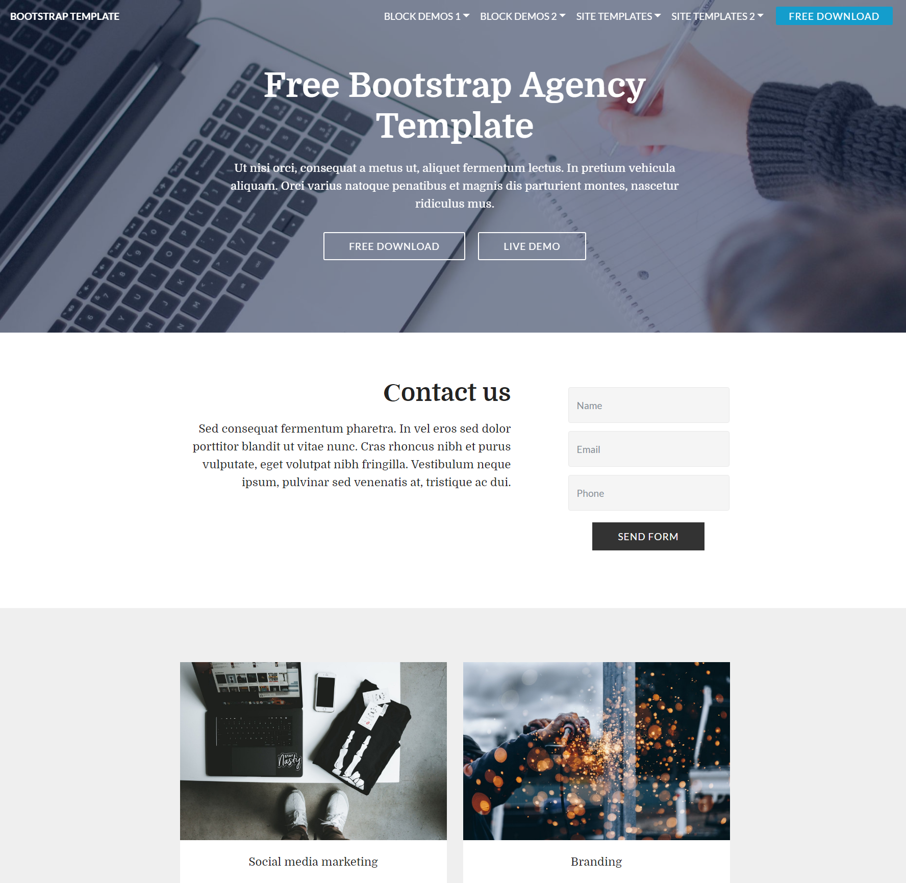 HTML Bootstrap  Agency Templates