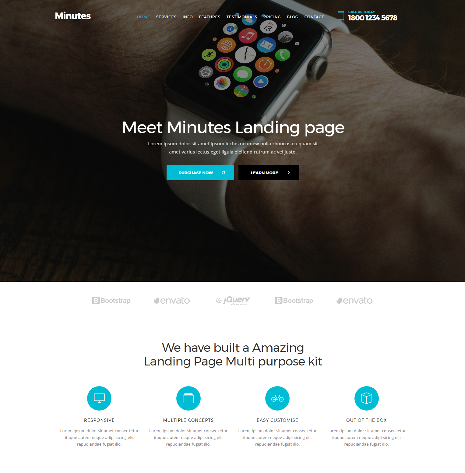 CSS3 Bootstrap Minutes Themes