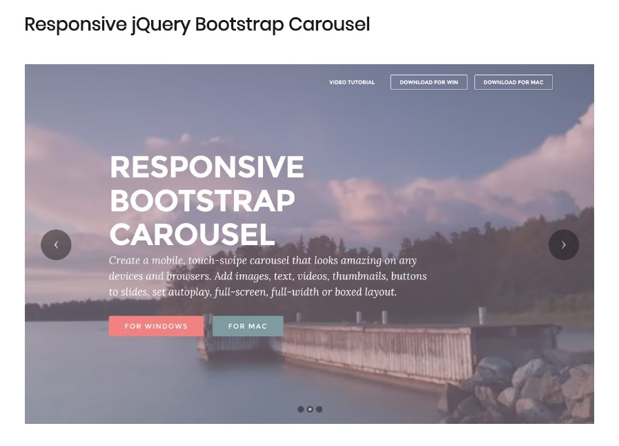 Bootstrap Image Carousel